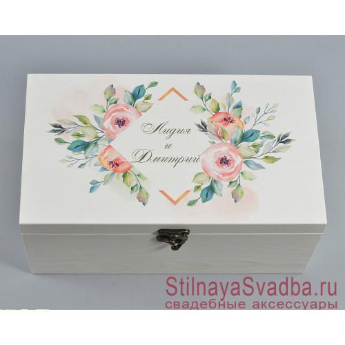 Деревянная шкатулка для Лидии и Дмитрия фото