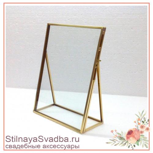 Стеклянные настольные рамки  с двойным стеклом фото