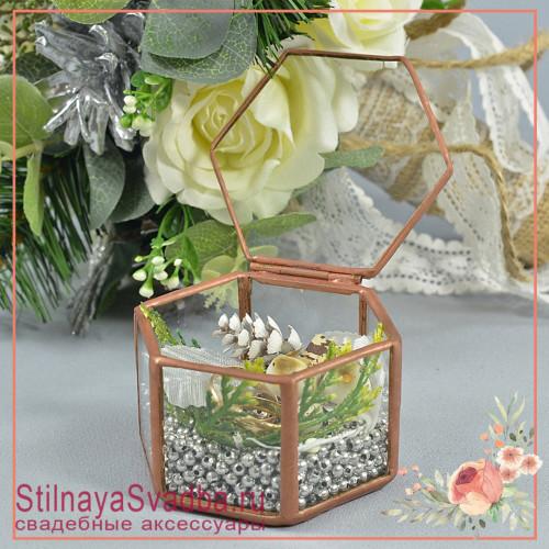 Стеклянная шкатулка с птичками фото