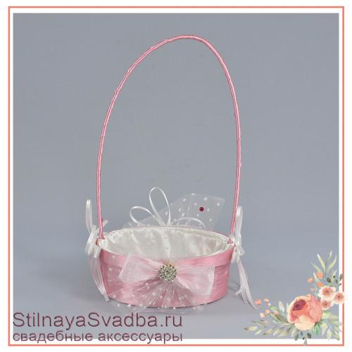 Корзинка для лепестков на свадьбу из розовой коллекции фото