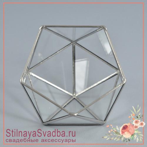 Флорариум в серебре без декора фото