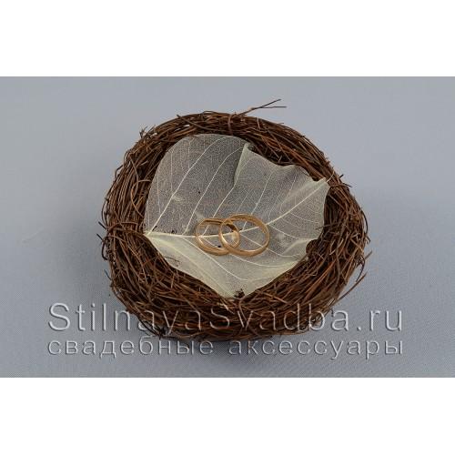 Гнездышко для колец с листочком фото
