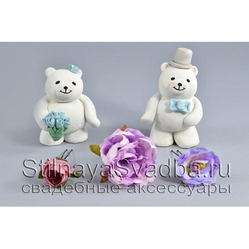 Комплект из трёх цветков в сиреневых тонах фото