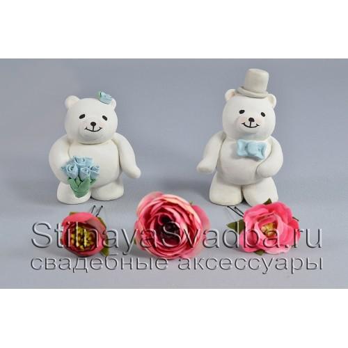 Комплект из трёх цветков в розовых тонах фото