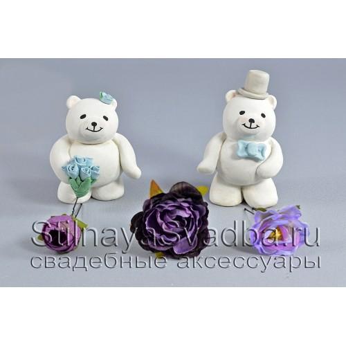 Комплект из трёх цветков в фиолетовых тонах фото