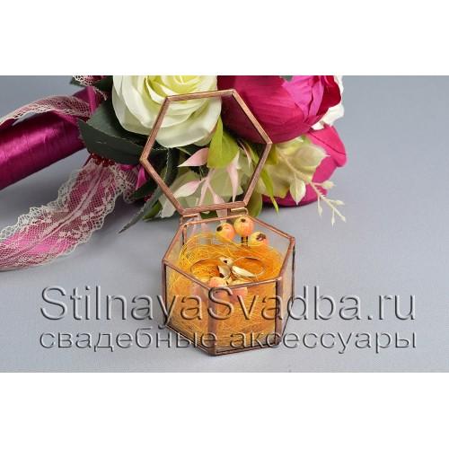 Стеклянная шкатулка с осенним декором фото