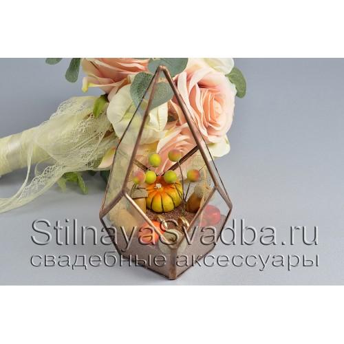 Геометрический осенний  флорариум фото