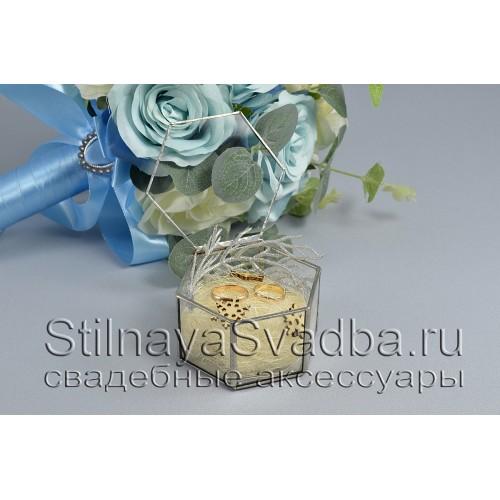 Стеклянная шкатулка-призма для зимней свадьбы фото