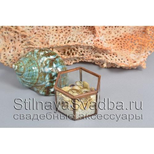 Морская шкатулка для колец с ракушками фото