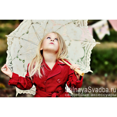Кружевной зонтик для девочки фото