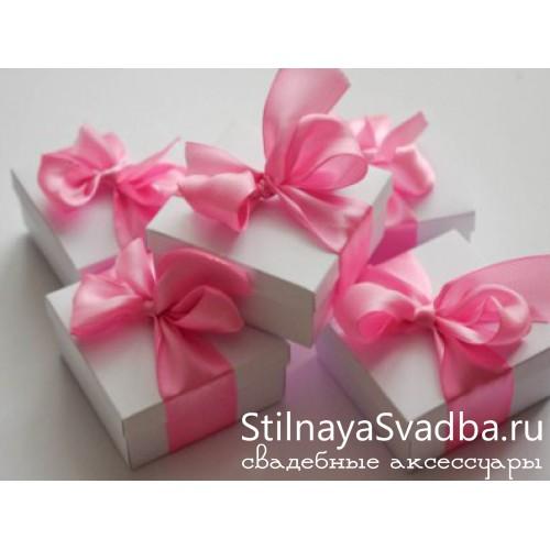 Бонбоньерка с розовой ленточкой фото