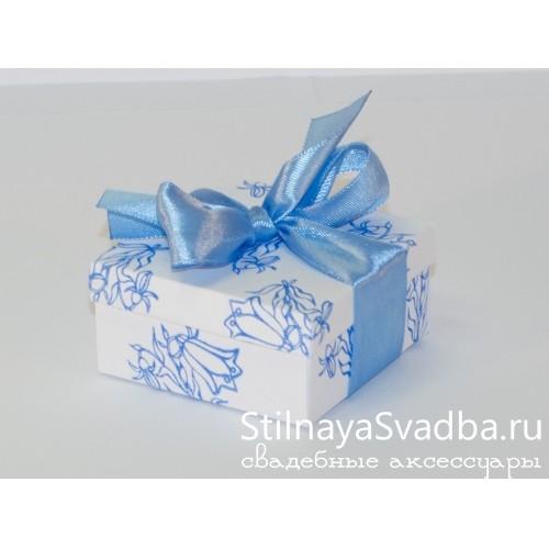 Бонбоньерка с рисунком, голубая колокольчики фото