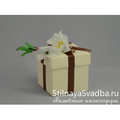 """Бонбоньерка """"Ветка сакуры"""" белая фото"""
