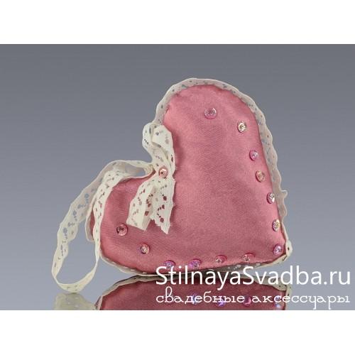 Романтичные текстильные сердечки. Фото 000.