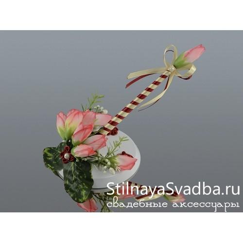 Ручка на подставке Вишнёвый крокус фото