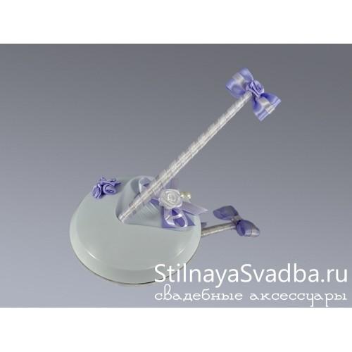 Ручка на подставке Нежная сирень фото