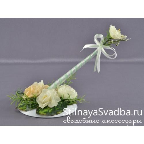 """Ручка  свадебная """"Чайная роза"""" фото"""