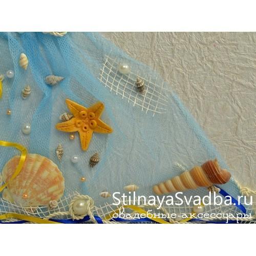 Сундучок в морском стиле Звезда океана. Фото 000.