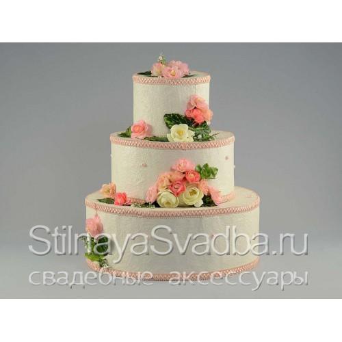 Оригинальны-декоративный торт-муляж свадебный фото