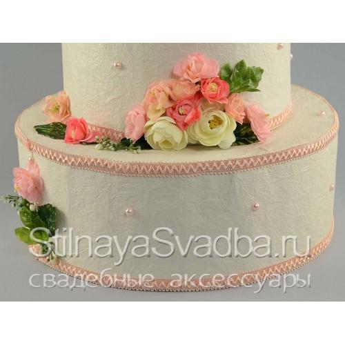 Оригинальны-декоративный торт-муляж свадебный. Фото 000.