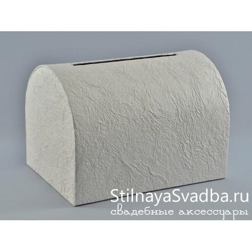 Сундучок-копилка, белый фото