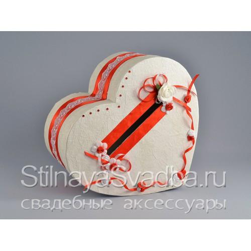 Казна-сердце Lady in red. Фото 000.