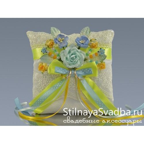 Подушка для колец на свадьбу купить фото
