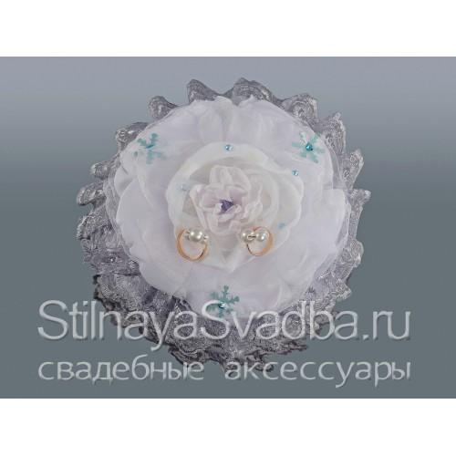 Подушечка для зимней свадьбы Серебро фото