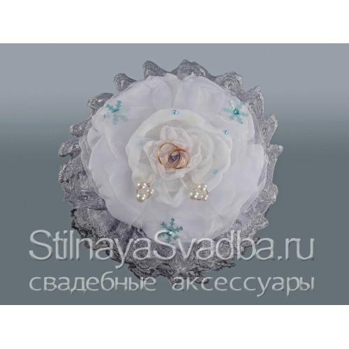 Подушечка для зимней свадьбы Серебро. Фото 000.