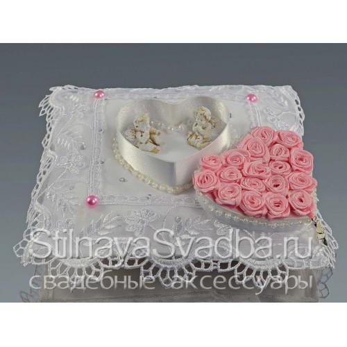 Подушечка для колец для свадьбы в стиле Золушка фото