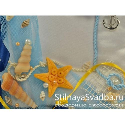 Подушечка в морском стиле Звезда океана. Фото 000.