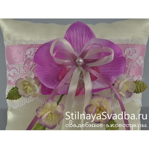 Подушечка Лиловая орхидея. Фото 000.