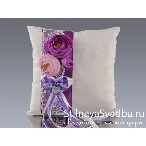 Подушечка Лилова роза фото