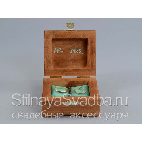 Миниатюрная шкатулка для обручальных колец фото