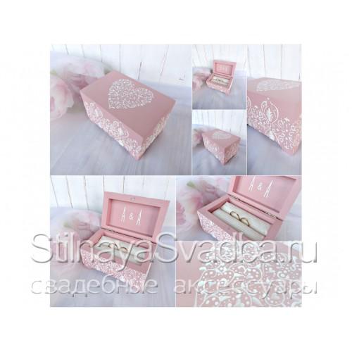 Фото. Шкатулка для колец пепельно-розовая