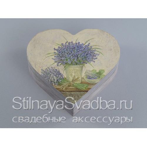 Шкатулочка-сердце в стиле прованс, большая. Фото 000.