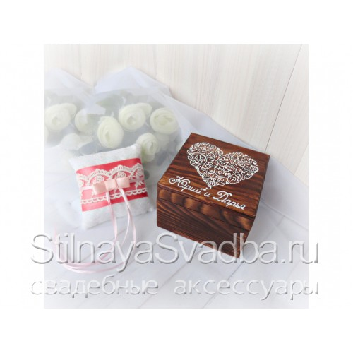 Фото. Шкатулка с подушечкой Шоколадное сердце