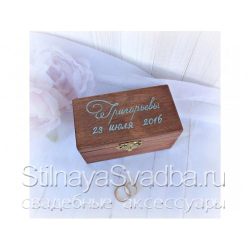 Шкатулочка для бирюзовой свадьбы. Фото 000.