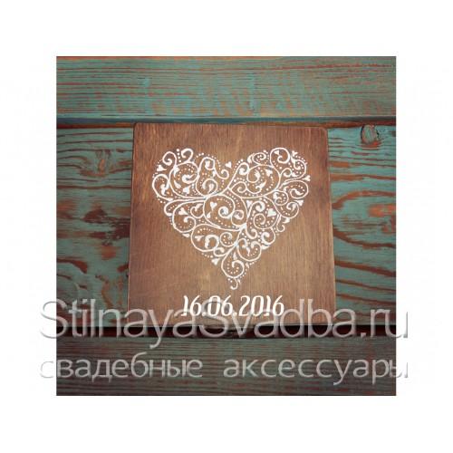 Шкатулка для колец Шоколадное сердце. Фото 000.