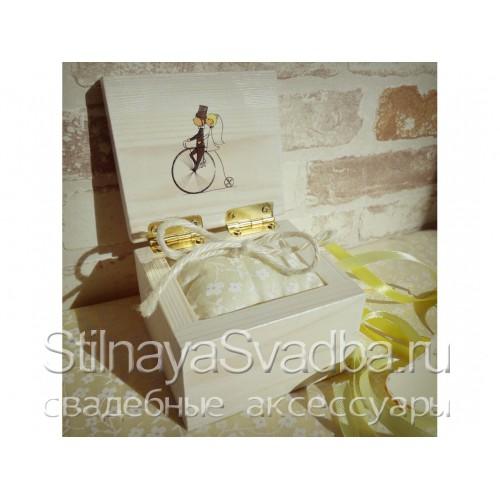 Шкатулка для колец с велосипедом. Фото 000.