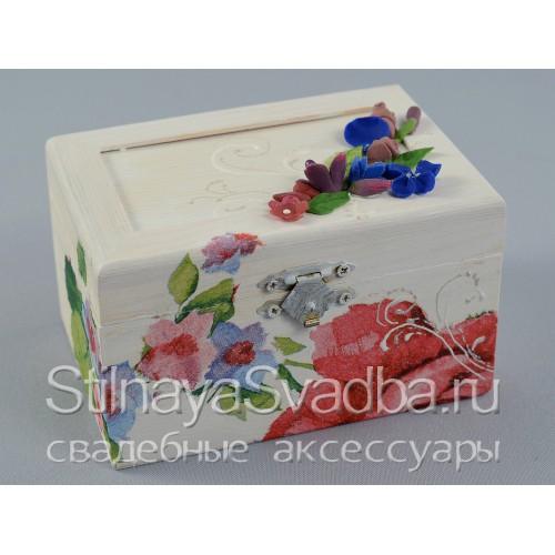 Фото. Шкатулка в лилово-сине-розовые тонах