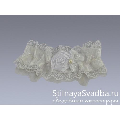 Классическая подвязка невесты фото