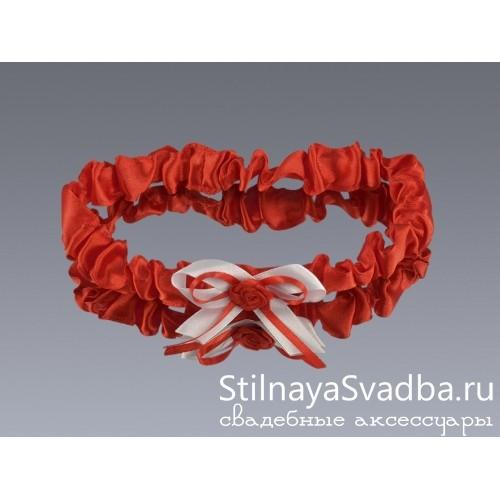 Подвязка узкая Romantic heart фото