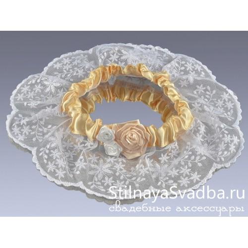 Подвязка невесты  Персик фото