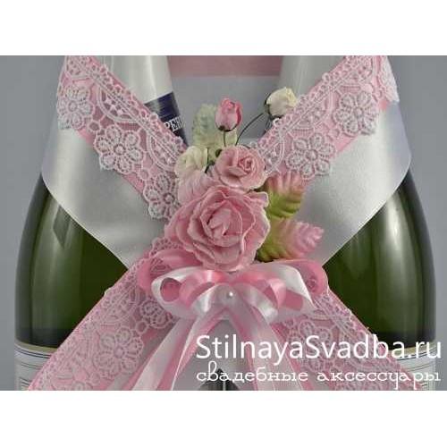 Украшение свадебных бутылок фото