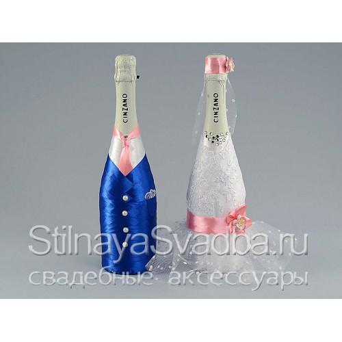 Бутылки шампанского  на свадьбу фото