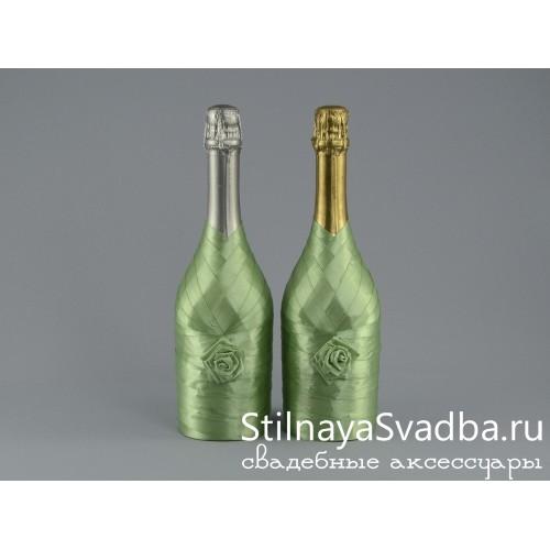Украшение шампанского лентами фото