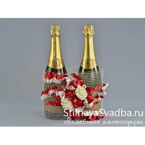 Купить украшение для шампанского на свадьбу фото