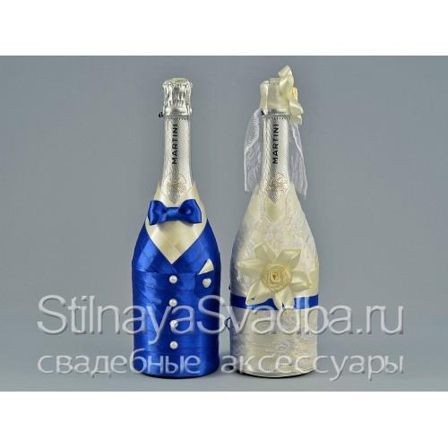 Декор свадебных бутылок фото