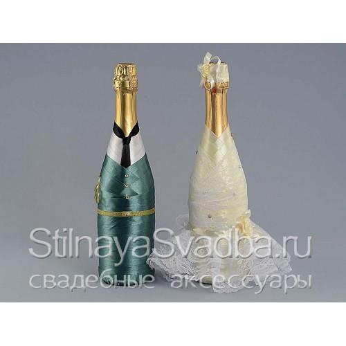 Декор шампанского в военной форме фото